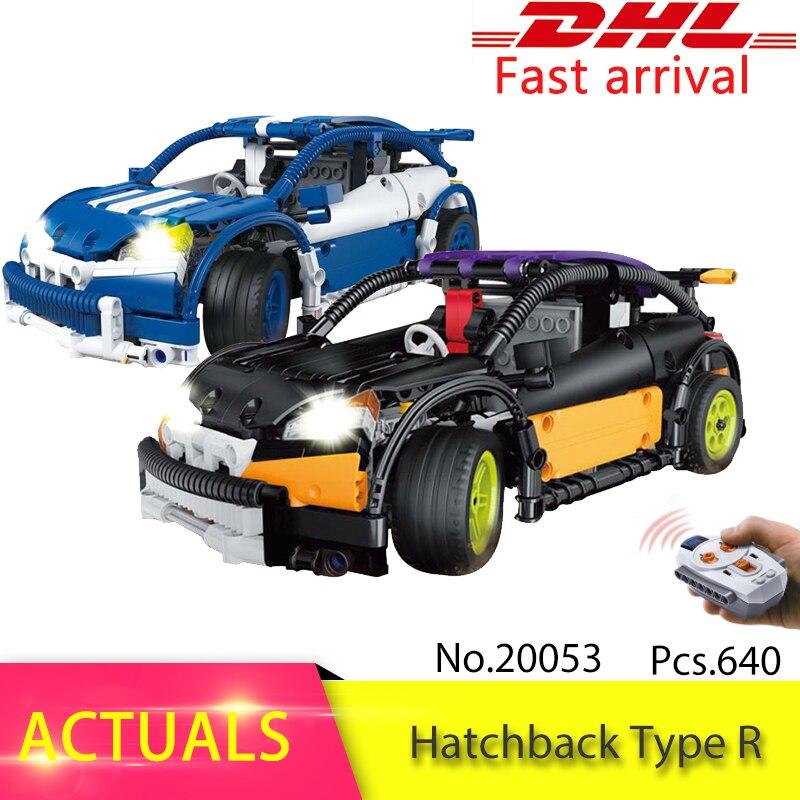 Lepin Technic 640pcs The RC Hatchback Type R Set MOC-6604 Model Building Block Brick Educational kits Toys For Children Gift