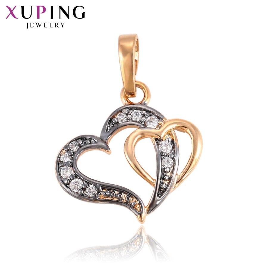 11,11 сделок Xuping Мода подвеска в форме сердца очаровательные Дизайн украшения для Для женщин Рождество подарок S81, 2-33291