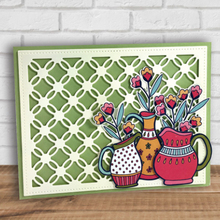 Eastshape Wacky Box Cutting Stencil Trellis Background Metal Dies Heart Frame for Scrapbooking Card Paper Craft Stencils