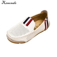 New Spring Autumn 2015 Children Boy S Shoes Breathable Genuine Leather Slip On Loafers Oxford Flat