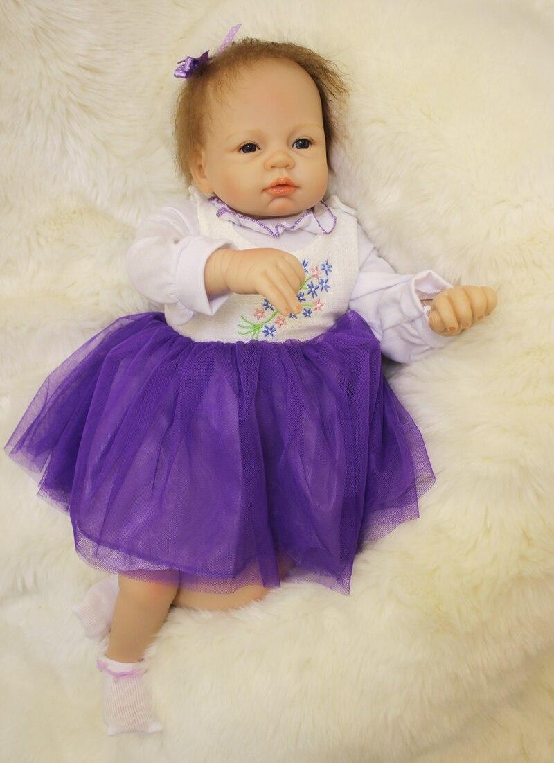 55 cm Reborn bébé poupée vraie Silicone poupée enfants jouets filles Bebes De Silicona enfant coucher tôt éducation jouet nouvel an enfants cadeaux