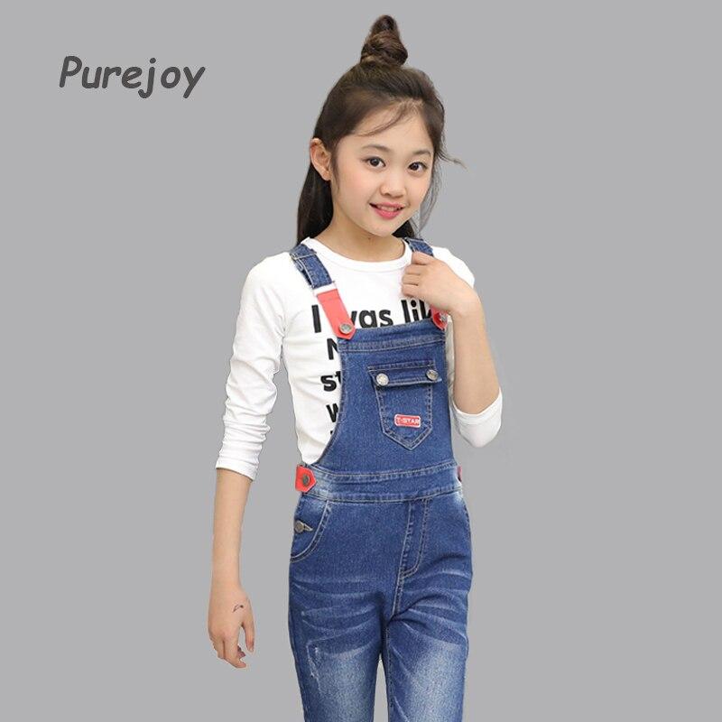 Girl/'s Jeans Denim Jumpsuit 7 8 9 10 11 12 ans