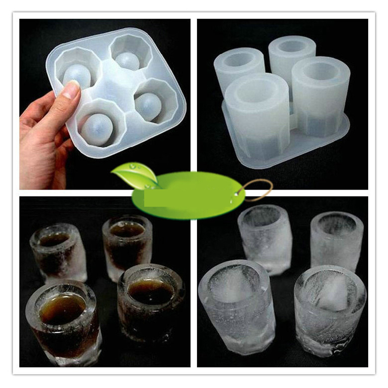 Aliexpress.com : Buy Ice Cup Shape Silicon Freezer Ice Cube Mold ...