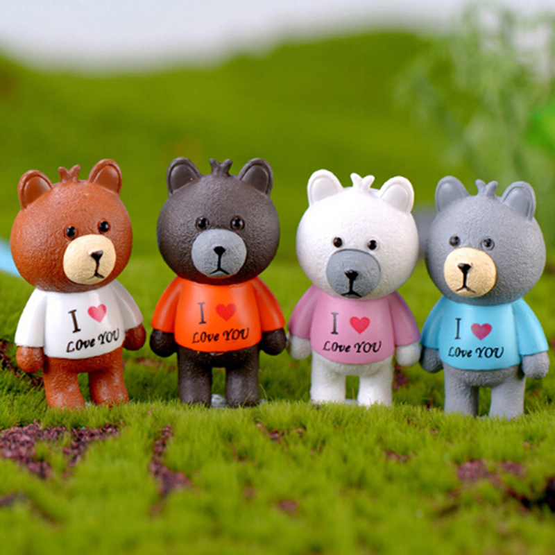 1 Pc Mini Bear Animals Resin Craft Doll House Decoration We Have Won Praise From Customers