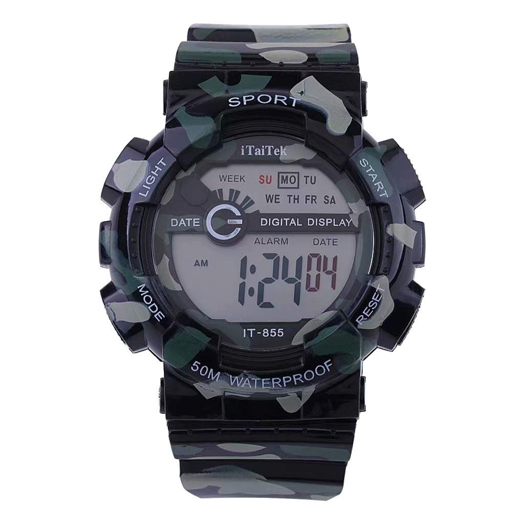 children's watch Brand boys watches Multifunctional Sports Digital Electronic Camouflage Waterproof Fashion kids Watch da90430