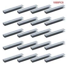 1000 Pcs U Shaped Staples 12x6.3mm Nails For Staple Gun Stapler super value light duty staple gun with 50 staples included 4 8mm nail