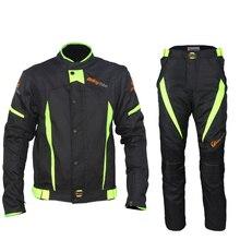 Новые высочайшее качество riding tribe черный отражают гонки куртки и брюки водонепроницаемые куртки мотоцикла костюмы одежда m-xxxxl
