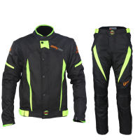 NEW Top Quality Riding Tribe Black Reflect Racing Jackets And Pants Motorcycle Waterproof Jackets Suits Clothing