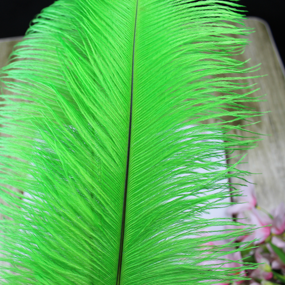 HOT! 50pcs/lot 45-50cm/18-20green ostrich feather Plume wedding decoration green feather ostrich plumage ensure high quality