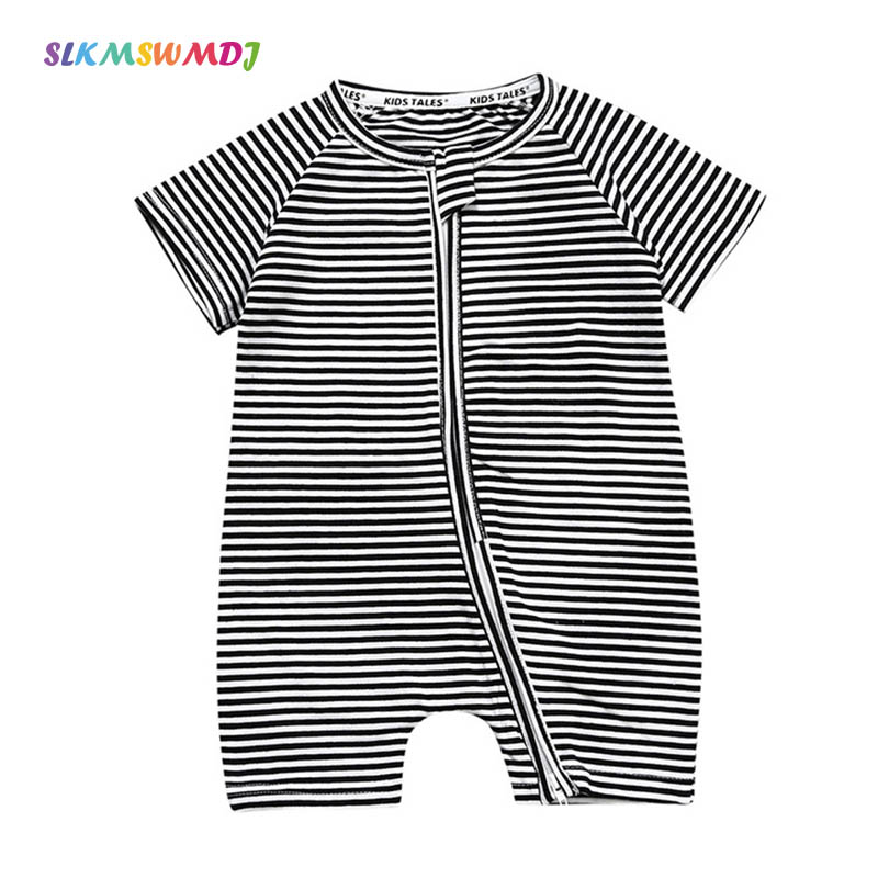 SLKMSWMDJ 2019 Verão Nova das Crianças Macacão de Bebê Bodysuits & One-Pieces Recém-nascidos Do Bebê Do Algodão Rastejando Traje Para 3 -36 meses