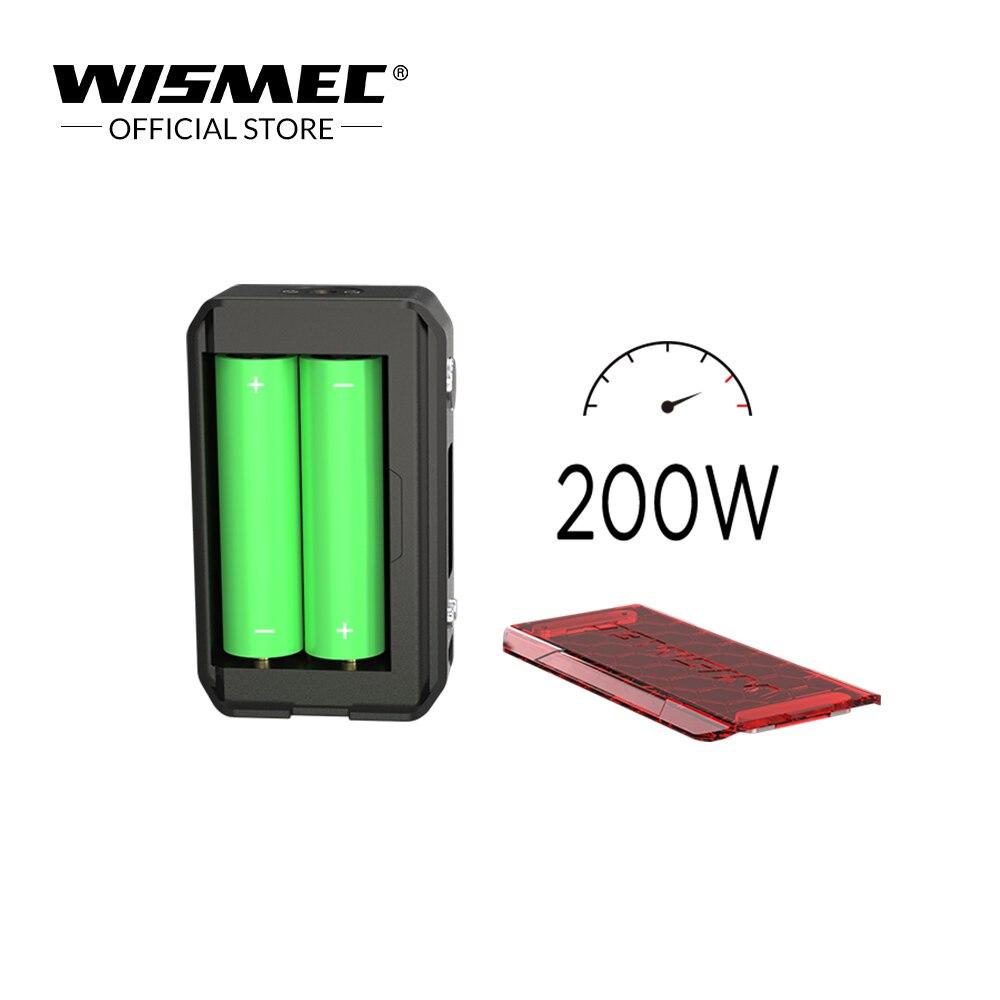 Original WISMEC SINUOUS V200 TC Box Mod Output 200W Wattage By VW/TC/TCR Mode 510 Thread Electronic Cigarette mod