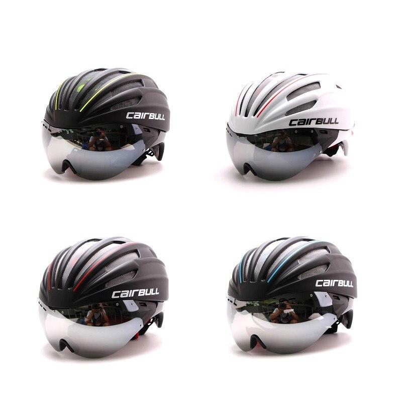 ФОТО 2017 CAIRBULL Latest UV Visor EPS TT Bicycle Helmet Aero Track Casque Velo Casco Bici Cycling Racing road Bike Equipment Helmet