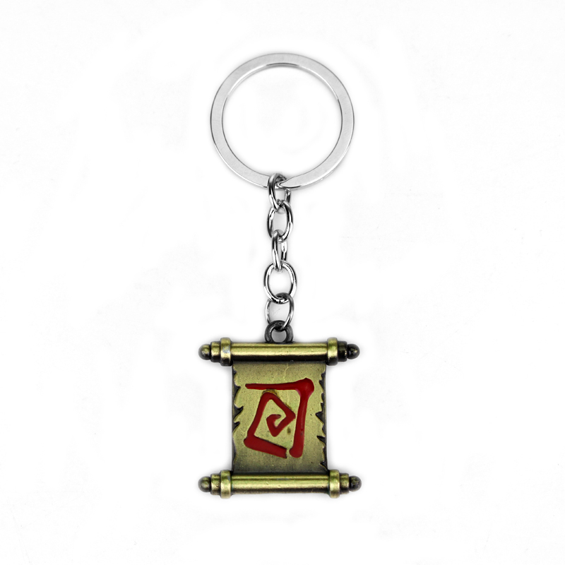 Fashion Alloy 3D Game Dota 2 Series Keyring Magic Transfer Reel Keychain Car Key Holder Pendant Chaveiro Jewelry Accessories