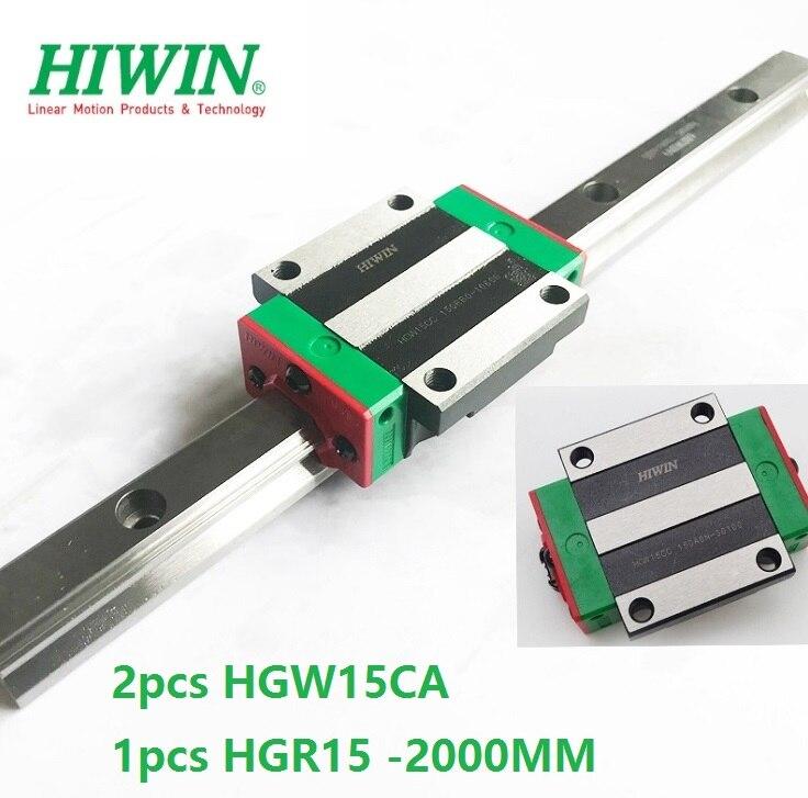 1pcs 100% original Hiwin linear rail guide HGR15 -L 2000mm + 2pcs HGW15CA HGW15CC linear flange Block carriage cnc router цена