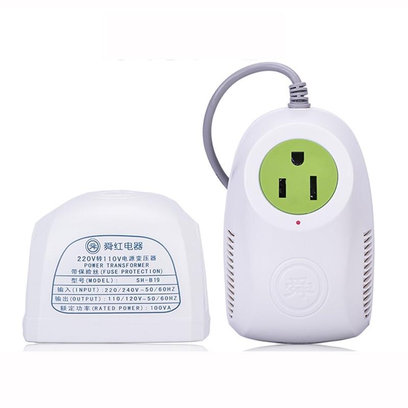 100w power supply voltage converter 220v turn 110v US small ...