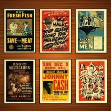Cartel publicitario Vintage WW1 Canadá Royal Navy Reserve pinturas clásicas de lienzo Vintage carteles de pared pegatinas decoración del hogar regalo