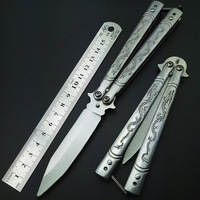 Butterfly In Knife Fly Dragon Coated Training Folding Knife Butterfly Not Sharp Butterfly Balisong No Edge