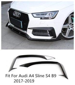 Высокое качество углеродного волокна автомобилей Передняя решетка спойлер пригодный для Audi A4 Sline S4 B9 2017 2018 2019 BY EMS
