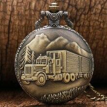 YISUYA Antique Bronze Car Truck Pattern Pendant Arabic Numer