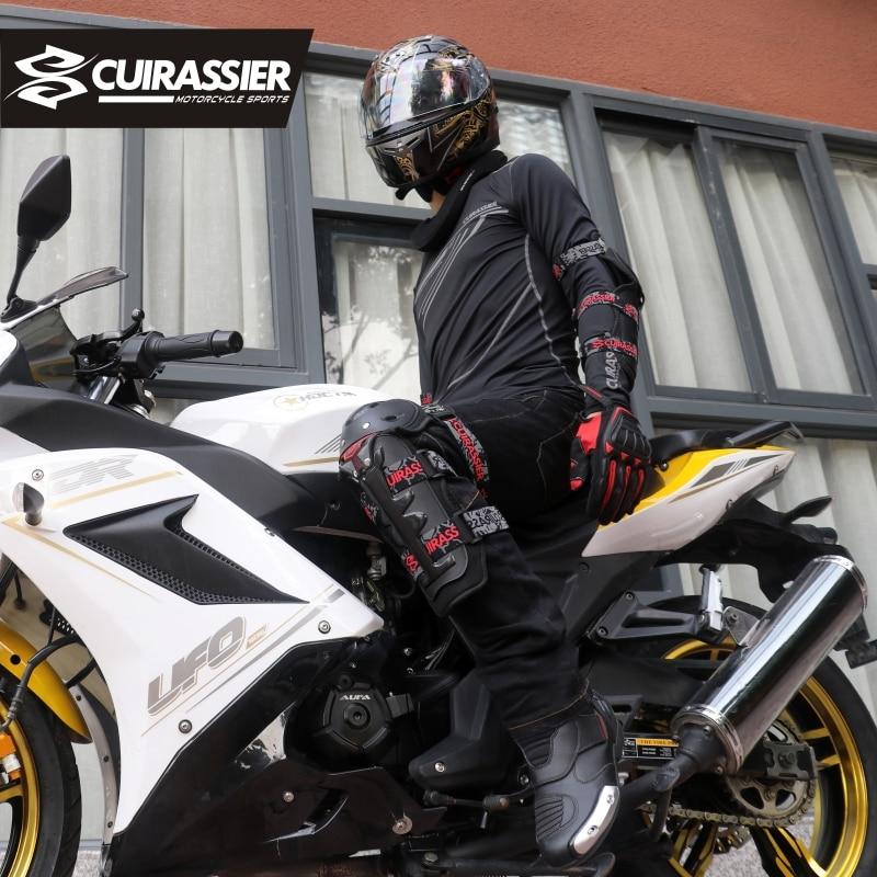 मोटरसाइकिल घुटने पैड Cuirassier सुरक्षात्मक Kneepads रक्षक स्कूटर मोटरसाइकिल रेसिंग एमएक्स गार्ड सुरक्षा कोहनी गार्ड सुरक्षा