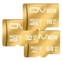 OV PRO Champagne Gold Micro SD Cards SDHC SDXC UHS I U3 16GB 32GB 64GB Memory