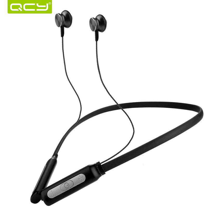 QCY BH1 Bluetooth Casque avec Micro Sans Fil tour de Cou Léger Écouteurs IPX5 Étanche Sport Casque