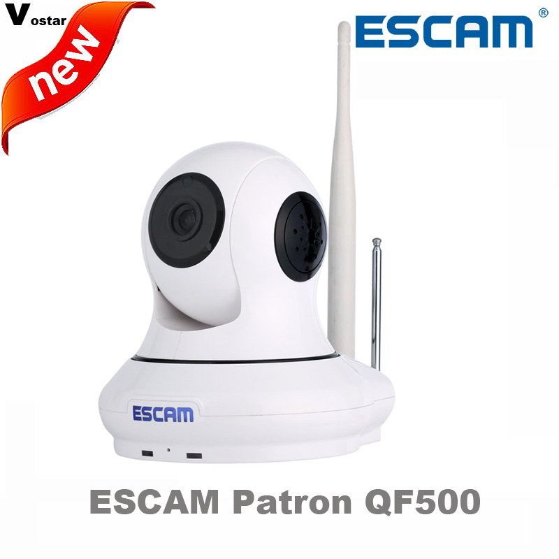 ESCAM Patron QF500 Wireless indoor HD IP font b Camera b font P2P Support 32GB TF