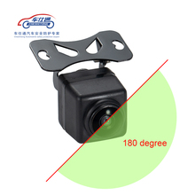 Cámara de coche de 180 grados cámara frontal gran angular para cámara de respaldo de DVD sin cámara lateral de línea de aparcamiento