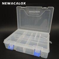 PP שקופה כפולה ארגז כלים חלקי פלסטיק אלקטרוניים תיבת אחסון כלי SMD SMT רכיב חומרה מיכל בורג מקרה