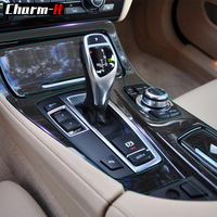 Clear Paint Protective Film Car Interior Trim Central Contrl Gear Shift Panel Protection Decal for BMW 523i 535i 5 Series 2011