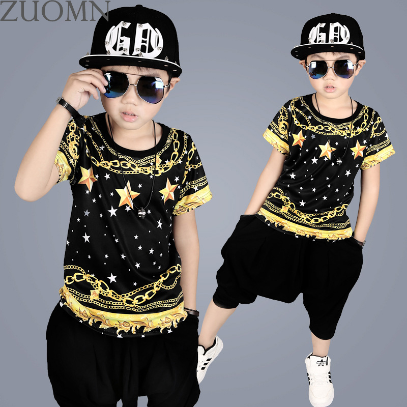 Retail Boys Clothing Sets Kids Girls Hip Hop Costume Kid Sport Suit Sweatshirts Children Hip Hop Clothes Twinset 2pcs Boys YL575