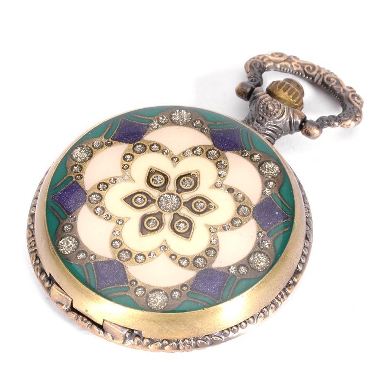 Antieke zon bloem zakhorloges FOB kristallen horloges Mannen vrouwen - Zakhorloge - Foto 4