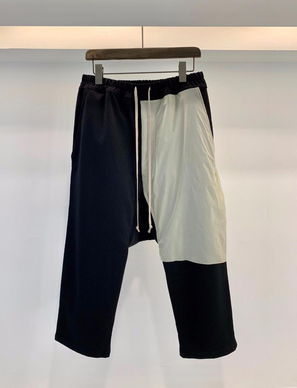 19ss Owen Seak Hommes décontracté Harem Pantalon Gothique vêtements pour hommes pantalons de Survêtement Femmes D'été Mi mollet Longueur Pantalon Lâche Pantalon Noir Taille XL-in Pantalon sarouel from Vêtements homme    1