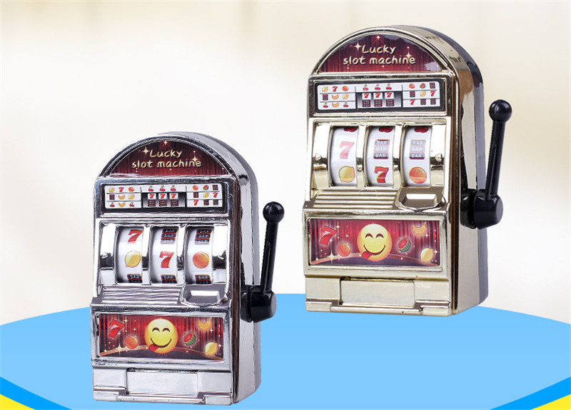 Funny Mini Casino Lucky Jackpot Fruit Slot Machine Anti stress Toys Money box Game Toys For children Adult Decompression image