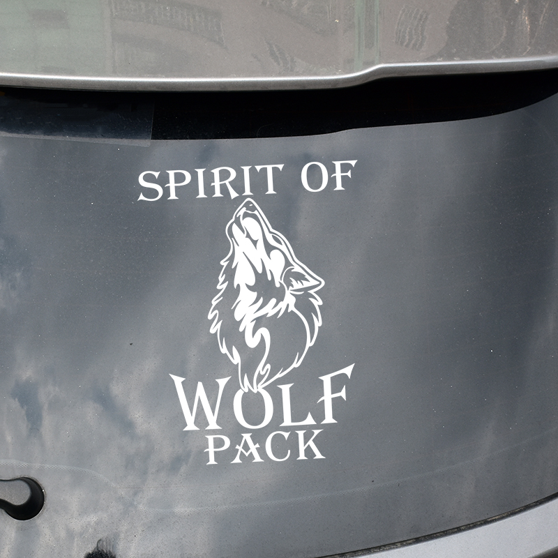 Cool spirit WOLF pattern design car window side door decor stickers and decal,fashion die cut vinyl car styling cover labels fashion letters and zebra pattern removeable wall stickers for bedroom decor