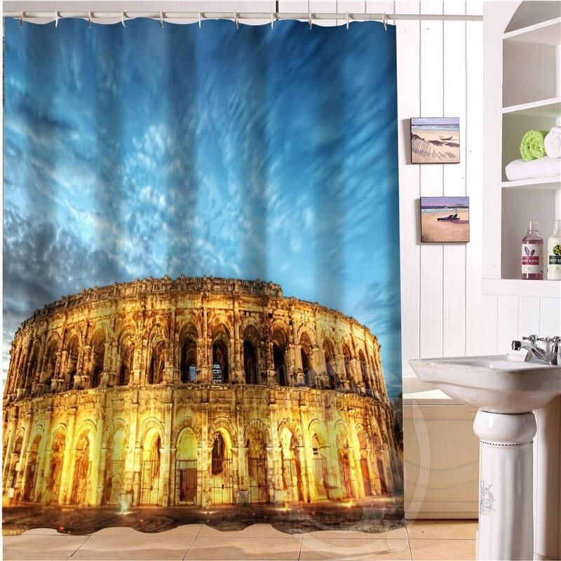 Unique Design Custom Roman Forum Colosseum Shower Curtain Bathroom Decor Waterproof Free Shipping SQ0616
