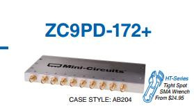 [BELLA] Mini-Circuits ZC9PD-172-S+ 1200-1700MHz Eight SMA Power Divider