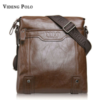 VIDENG POLO Brand Bag Men Classic One Shoulder Inclined Across Packages Business Man Bags Soft Leather