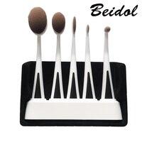 New Arrival 5 Pcs Set Tooth Brush Shape Oval Makeup Brush Set Professional Foundation Powder Brush