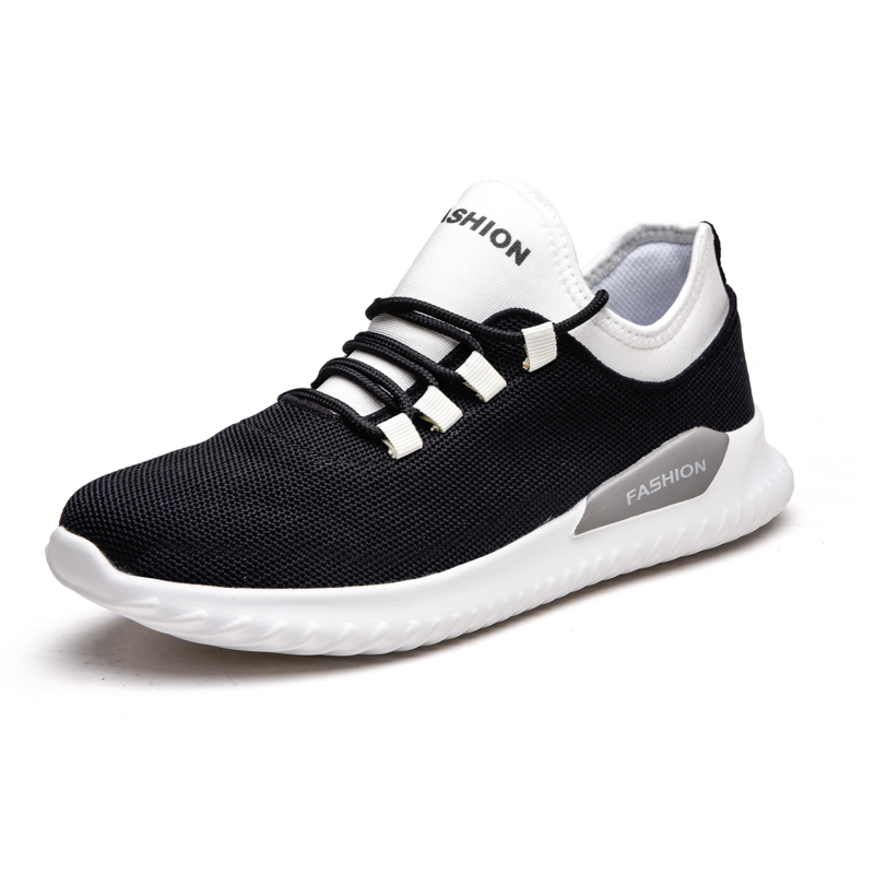 New Summer Fly Knit Sneakers Outdoor Tenis Masculino Adultomen Casual Shoes Lace up Breathable Men Shoes Zapatillas Sepatu Pria in Men 39 s Casual Shoes from Shoes