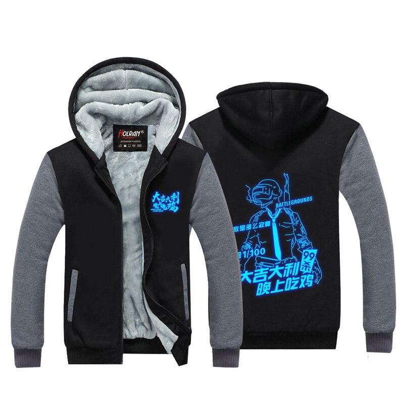 HOLRAN Playerunknowns Battlegrounds PUBG Hoodies Winnter thicken Warm hoodie H1Z1 coat