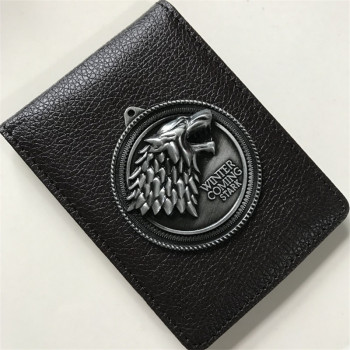 Stark Metal Badge Leather Wallet