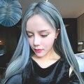 Harajuku Azul Misturado Perucas Cinza Woemn Moda Sexy Girls Lolita Longa Cinza Em Linha Reta Peruca Cosplay Traje Do Partido Peruca Pelucas
