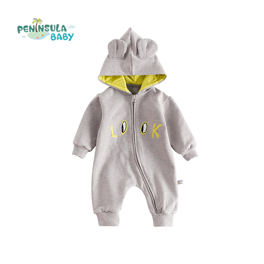 Newborn Baby Clothes Cartoon Baby Rompers Long Sleeve Baby Girls Boys Clothing Winter Hooded Jumpsuits Roupas Infant Costume baby clothes newborn boys and girls jumpsuits long sleeve 100%cotton solid turn down baby rompers infant baby clothing product