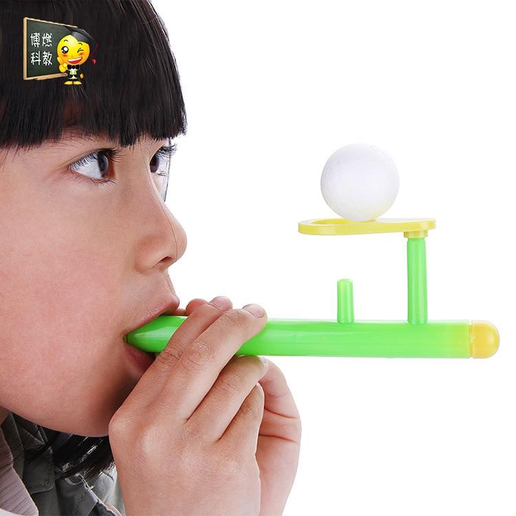 Pupils Blowing Suspension Balls Scientific Air Principles Physics Blowing Balls Children's Montessori Educational Wooden Toys