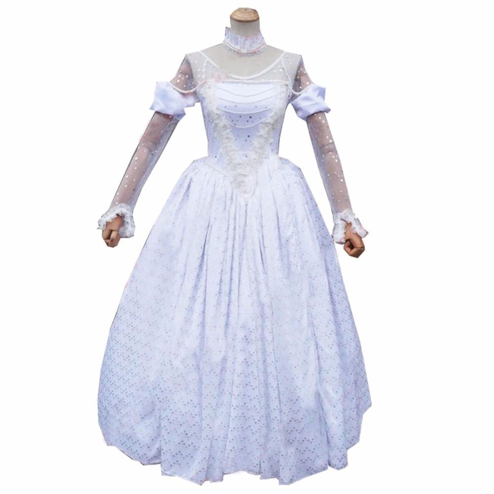 2018 nouveau Style Alice au pays des merveilles Costume Cosplay la reine blanche Costume robe fantaisie Costumes d'halloween