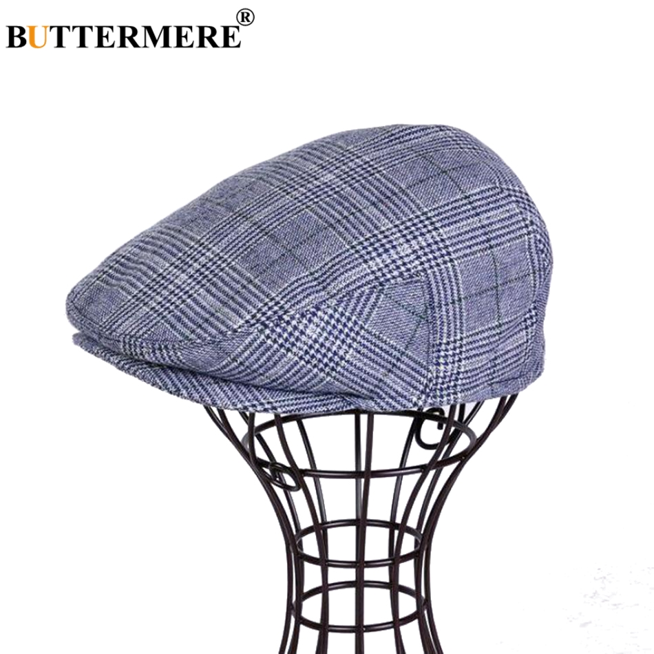 fa35fdc78 Hot Deal] BUTTERMERE Classic Flat Cap Men Wool Khaki Beret Male ...