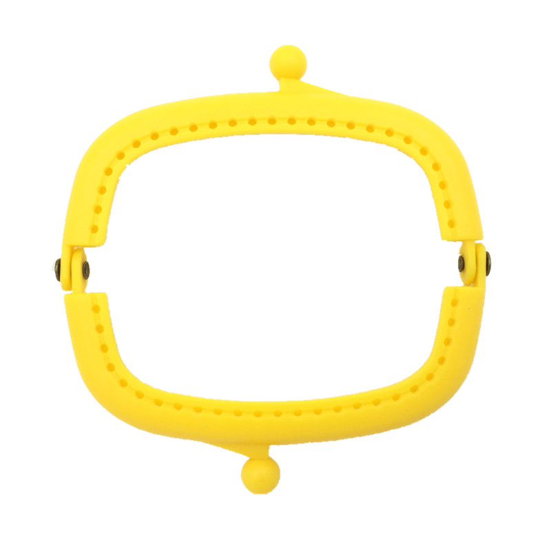 New DIY Yellow Handbag Coins Purse Plastic Arc Frame Kiss Clasps Lock Clutch Handle 9x5cm 10Pcs lot in Bag Parts Accessories from Luggage Bags