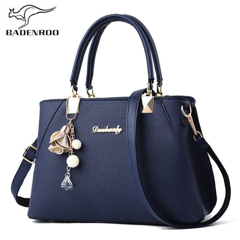 6eaeef50f8ca Badenroo брендовая Дизайнерская кожаная женская сумка сумки на плечо  большой емкости Женские сумки через плечо элегантная