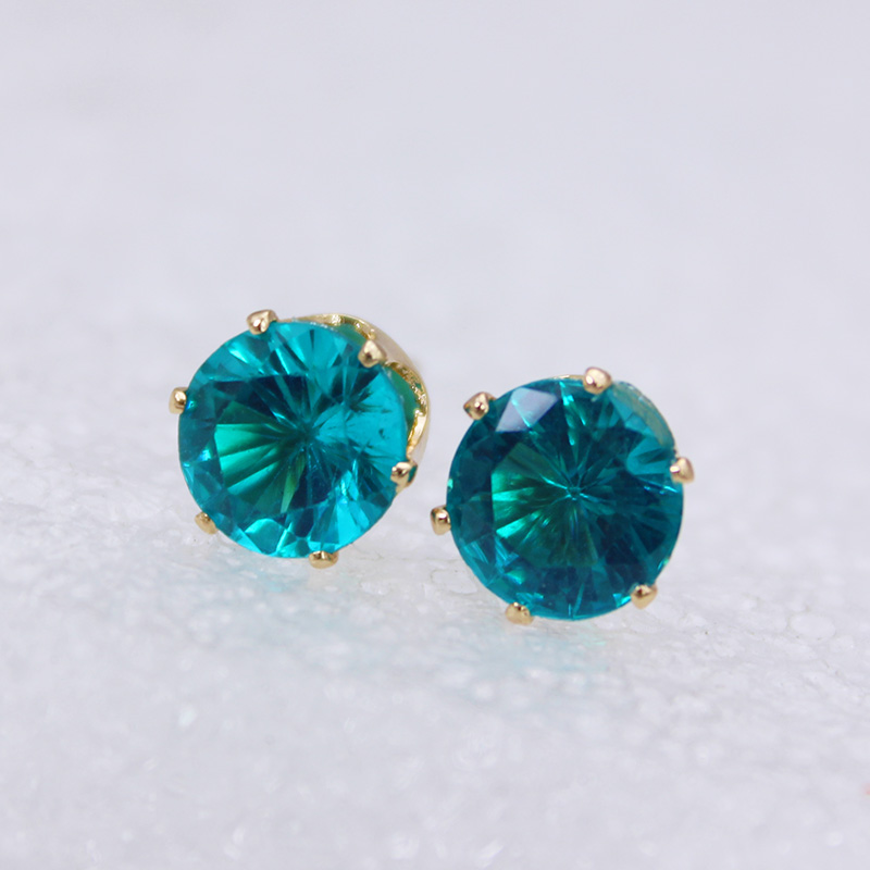 2018 new fashion brand jewelry crystal stud earrings for women tiny simple crown earrings Christmas gift